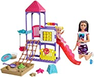 Barbie Skipper Babysitters, Inc. Climb 'n Explore Playground Dolls and Pla