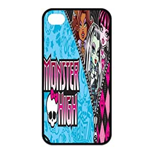 Mystic Zone Monster High iPhone 4 Case for iPhone 4/4S Cover Cartoon Fits Case KEK0718