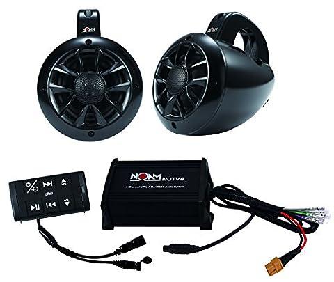 NOAM NUTV4 - Marine Bluetooth ATV / Golf Cart / UTV Speakers Stereo System (Remote Control Viking)