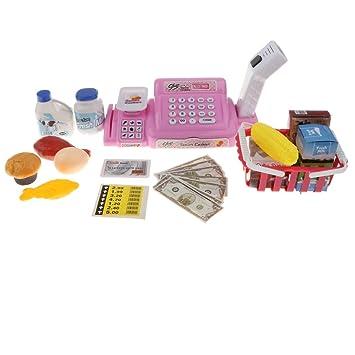 2d1516cc1513ab B Blesiya お店屋さん ままごと キャッシュレジスター 子供 ふり遊び おもちゃ 贈り物 24個セット