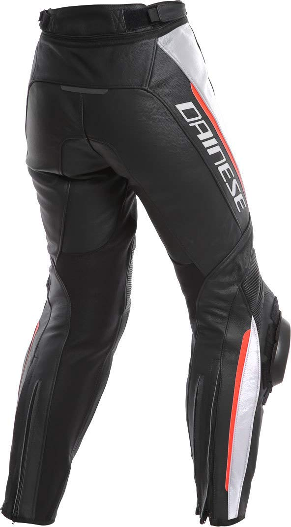 Dainese Delta 3 Mujer Piel Moto Pantalones Negro/Blanco/Rojo 48 ...