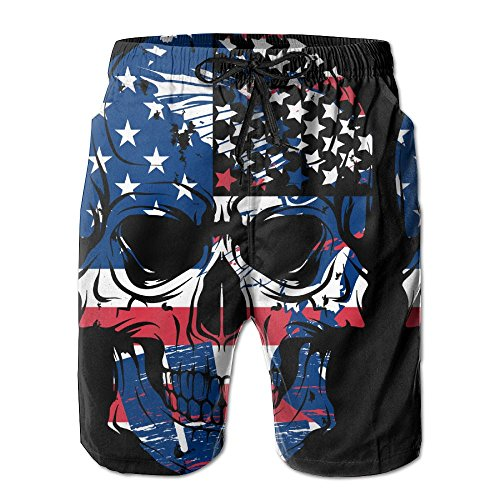 Newest - Men Surfer Summer Quick Dry Board Shorts - USA Flag (Rebel Flag Swimsuit)