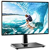 Rfiver Universal Table Top TV Stand TV Base Replacement for Most 27 30 32 39 40 42 43 49 50 55 inch LCD LED Plasma Flat Screen TVs, Vesa Mount Holds up to 88lbs, Height Adjustable and Cable Management