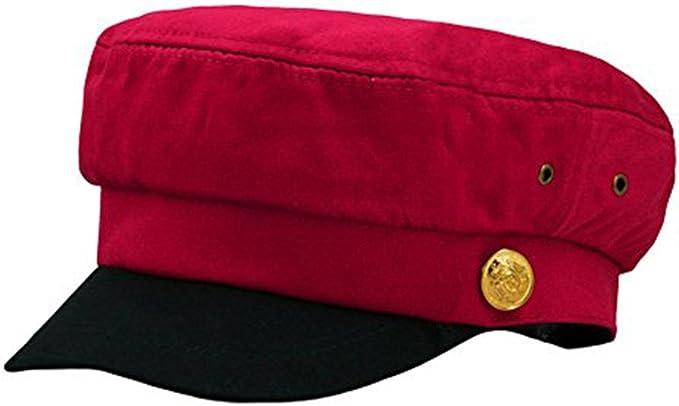 Fitted Cappello Esercito Donne Uomini Unisex Cappello Capitano Retr/ò Pianura Marina Caps