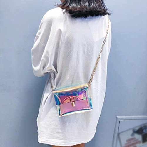 Clearance Women Bags JJLOVER Laser Transparent Crossbody Bags Messenger Shoulder Bag Beach Bag