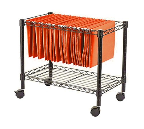 Lateral File Cabinet With Wheels Portable Folder Organizer Vertical Storage Wire Metal Shelf Tier Date Single Holder & Ebook by AllTim3Shopping. by STS SUPPLIES LTD