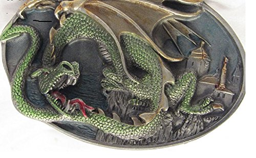 Dragon Design Collection Tanside LTD England Bergamot Fat Dragon DD539 Belt Buckle