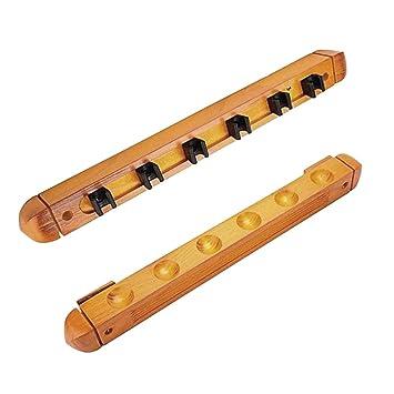 Billard Queue Rack Wandhalterung für Cues aus Holz für Billardtisch Snooker