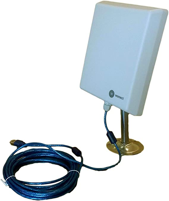 Antena Exterior WiFi USB 5 Metros Largo Alcance Wonect N4000A Alta potencia Cable USB activo