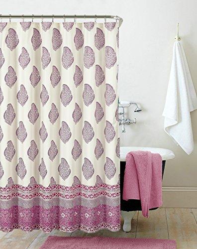Pop Shop Paisley Shower Curtain, 72x72, Pink (Curtain Shop Shower)
