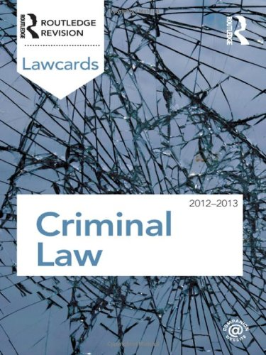 Criminal Lawcards 2012-2013