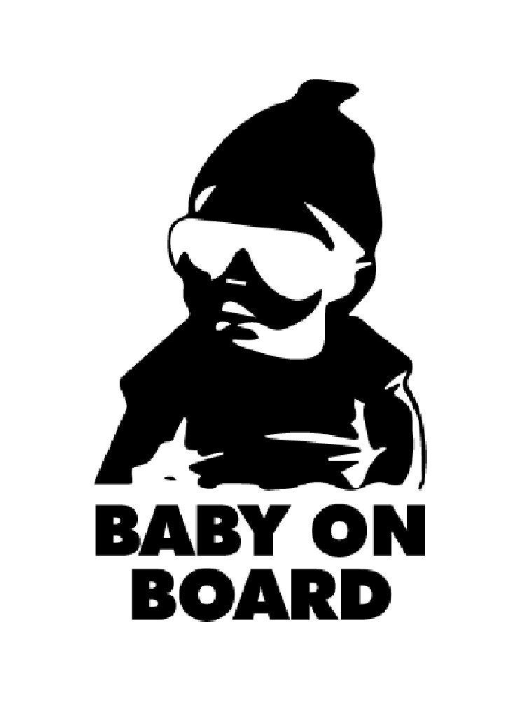 LeSo© Baby on Board Car Sticker Schwarz LeSo©