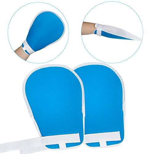 Denshine Control Mitts Medical Restraints Patient Hand Infection Protectors Padded Mitts Safety Universal Prevent Finger Harm Fixed Gloves for Medical Restraints Patient for Elderly, 1 - Catheter Infection Control