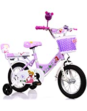دراجة أطفال SDUOBEI للأطفال مع عجلات تدريب عادية 45.72 سم، بنفسجي، مقاس صغير