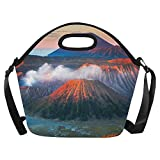 Happy More Custom Mount Bromo Active Volcano Indonesia Lunch Box Kids Teens Adult Lunch Bag