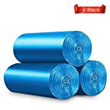 Trash Bags 8 Gallon Garbage Bags Thicken Trash Can liners for Home Waste Bins(3 Rolls/150 Counts) Blue