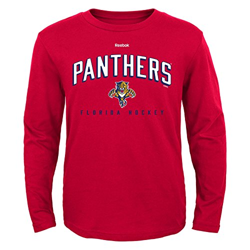 NHL Florida Panthers Boys 8-20 Arched Standard Long Sleeve Tee, Red, - Top Zz S
