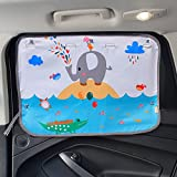 2PCS Car Window Shades for Side and Rear Window Car Seat Sun Protection Glare and UV Rays Protection for Your Child (Waterpark)