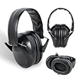 Tinsay 21dB Tactical Protective Earmuffs Outdoor Hunting Shooting Supplies Noise Earmuffs Hearing Protection Earmuffs Black
