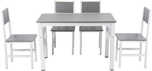 Mesa y sillas de Comedor Juego de 5 Muebles de Mesa de Cocina Juego de Comedor