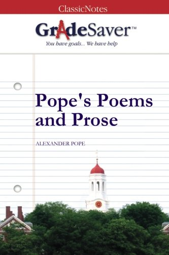 Popes Poems And Prose An Essay On Man Epistle I Summary And  Popes Poems And Prose By Alexander Pope