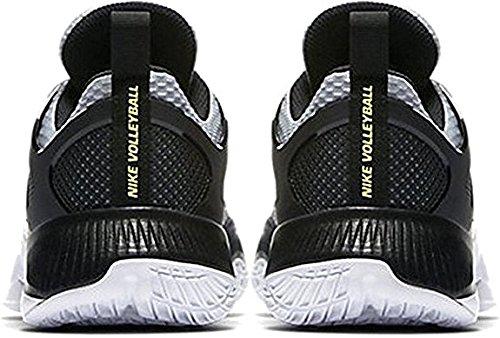 3b700d18a5f ... Nike Dameslucht Zoom Hyperace Volleybalschoenen Wolf Grijs / Volt -  Zwart