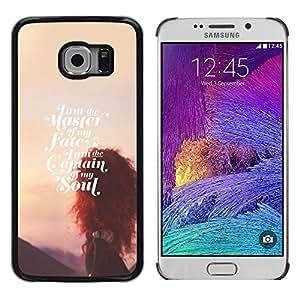 FlareStar Colour Printing Master Of Fate Soul Sunset Inspirational cáscara Funda Case Caso de plástico para Samsung Galaxy S6 EDGE / SM-G925 / SM-G925A / SM-G925T / SM-G925F / SM-G925I
