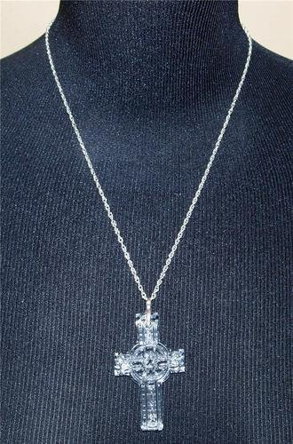 (Waterford Crystal Celtic Cross Pendant with 30