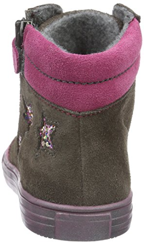 Richter Kinderschuhe Mädchen Fedora High-Top Grau (pebble/Mallow/Fuchsia 6611)