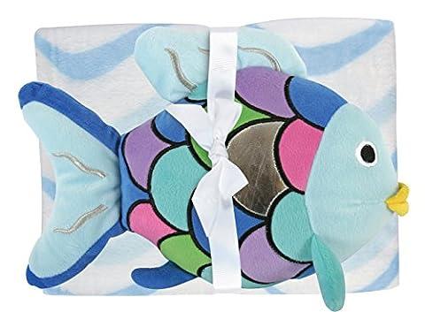 Stephan Baby Super-Soft Fleece Crib Blanket and Plush Toy Set, Rainbow Fish - Soul Fish