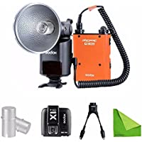 EACHSHOT Godox AD360II-C 360W GN80 E-TTL Flash Speedlite Built-in 2.4G X Wireless System For Canon + Orange PB960 Battery + X1T-C + DB-02 two-in-one Cable + AD-S15 Bulb Cover
