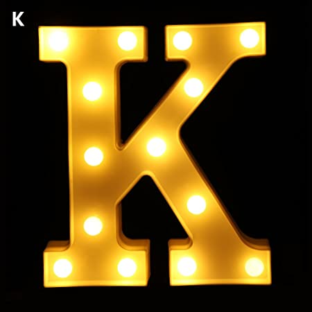 LED Marquee Letter Lights Alphabet Light Up Sign for Wedding Home Party Bar A-Z