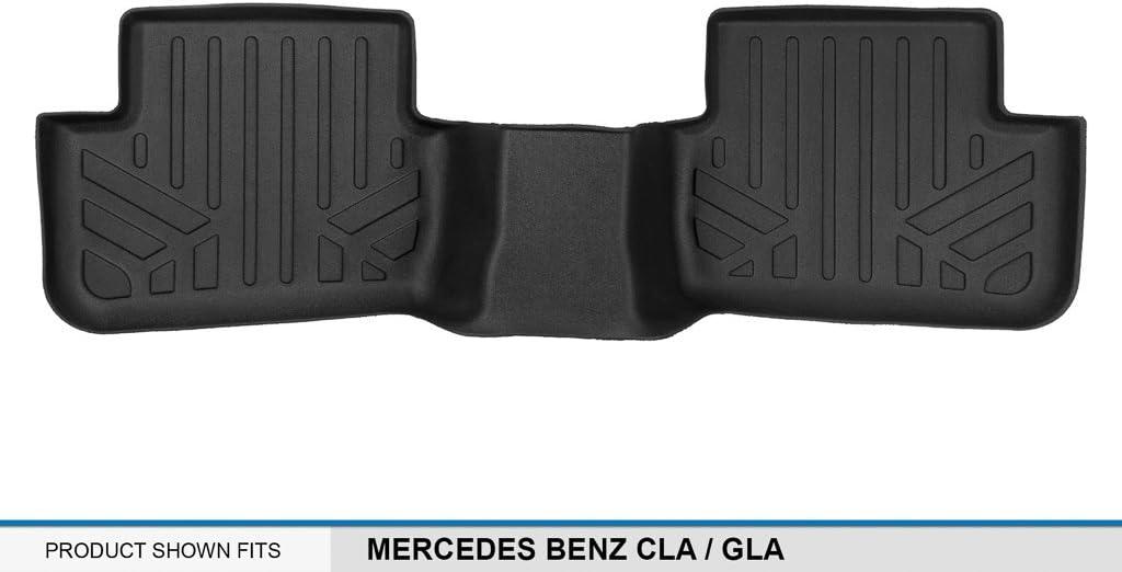 2015-2018 GLA MAXLINER Floor Mats 2nd Row Liner Black for 2014-2018 Mercedes Benz CLA