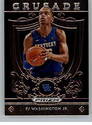 2019-20 Prizm Draft Picks Crusade Basketball #95 PJ Washington Jr. Kentucky Wildcats Official NCAA Trading Card From Panini America