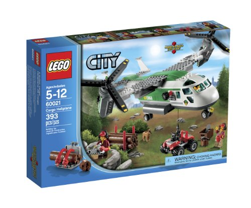 LEGO City 60021 Cargo Heliplane Toy Building Set (Bike Lego Quad)