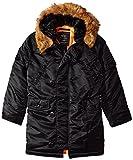 Alpha Industries Big Boys' N-3B Parka Coat, Black, Medium/10/12