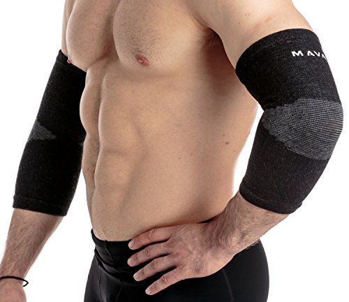 Mava Sports Elbow Sleeve Recovery Compression, Size M – Support for Workouts, Weightlifting, Arthritis, Tendonitis, Tennis and Golfer's Elbow – Bamboo Charcoal Athletic Elbow Compression Sleeves