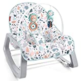 Fisher-Price Infant to Toddler Rocker Pacific Pebble, Portable Baby Seat