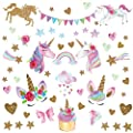 Unicorn Wall Decal,66pcs Unicorn Wall Decor Stickers Gifts for Girls Bedroom Home Party Favors