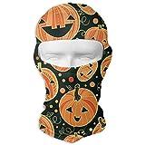 Men & Women Winter Balaclava Pumpkin Patterns Windproof Helmet Liner Mask Polyester Multipurpose Head Wrap for Motorcycle, Snowboard, Cycling, Sports