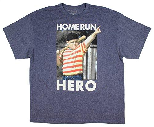 Hybrid Apparel The Sandlot - Playera para Hombre, diseño con Texto Home Run Hero Ham Photo, Color Negro, Azul Marino,...