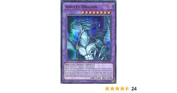 DRLG-EN003 SECRET RARE YUGIOH AMULET DRAGON 1st ED