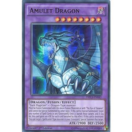 Amazon.com: YuGiOh: drl3-en043 1er Ed amuleto Dragon Ultra ...