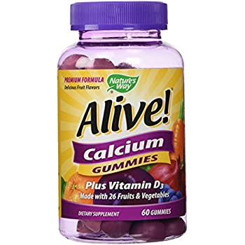 Alive! Calcium Nature's Way 60 Gummy