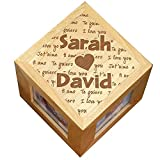 GiftsForYouNow Engraved I Love You Personalized Photo Cube Deal