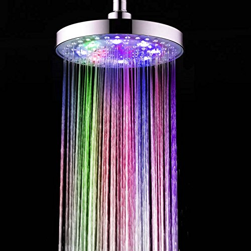 8 Inch 7 Colors Changing LED Shower Head - 9