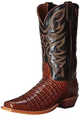 Amazon Com Nocona Boots Men S Caiman L Toe Western Boot