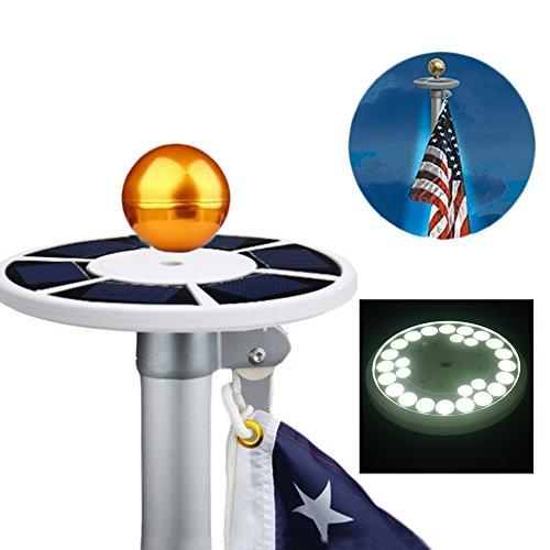 zyurong? Bright 26LED Solar Fahnenmast Licht passt für von 1525Ft Flagge Pole