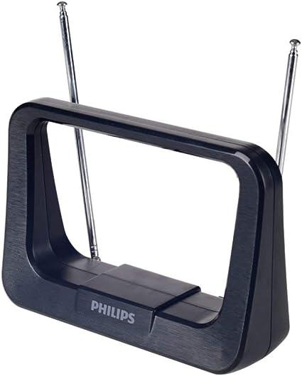 Philips SDV1226/12 - Antena (Negro, 1,8 m, FM,UHF,VHF, 28 dB ...