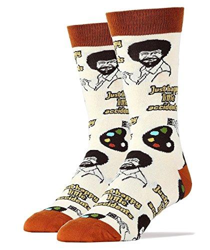 Oooh Yeah Socks, Men's Cotton Crew Sock (Happy Lil Accidents)